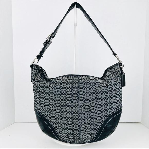 4f95e22e57 Coach Handbags - 🎁🎄Coach Lg Leather   Signature Jacquard Hobo Bag